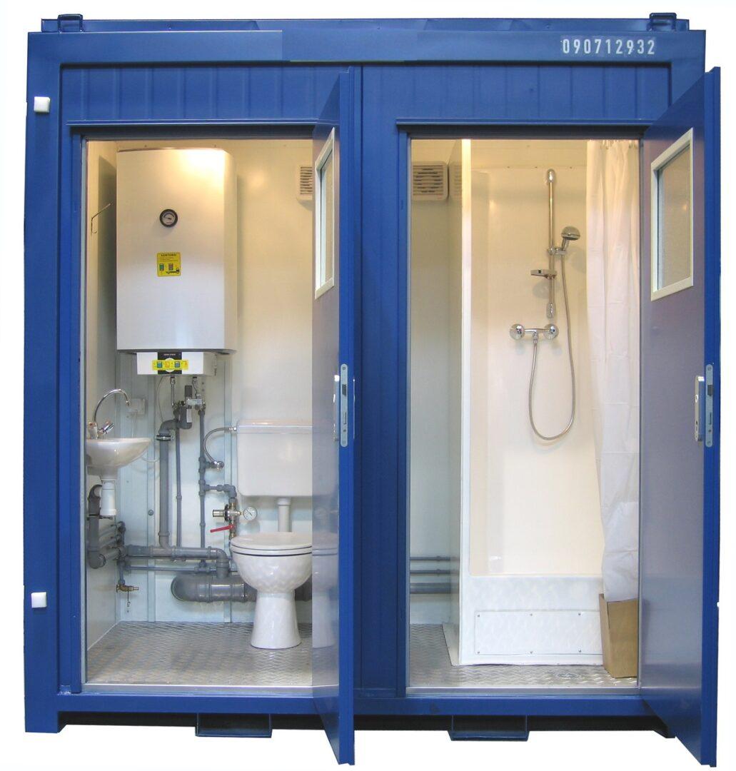 8ft container met wc en douche