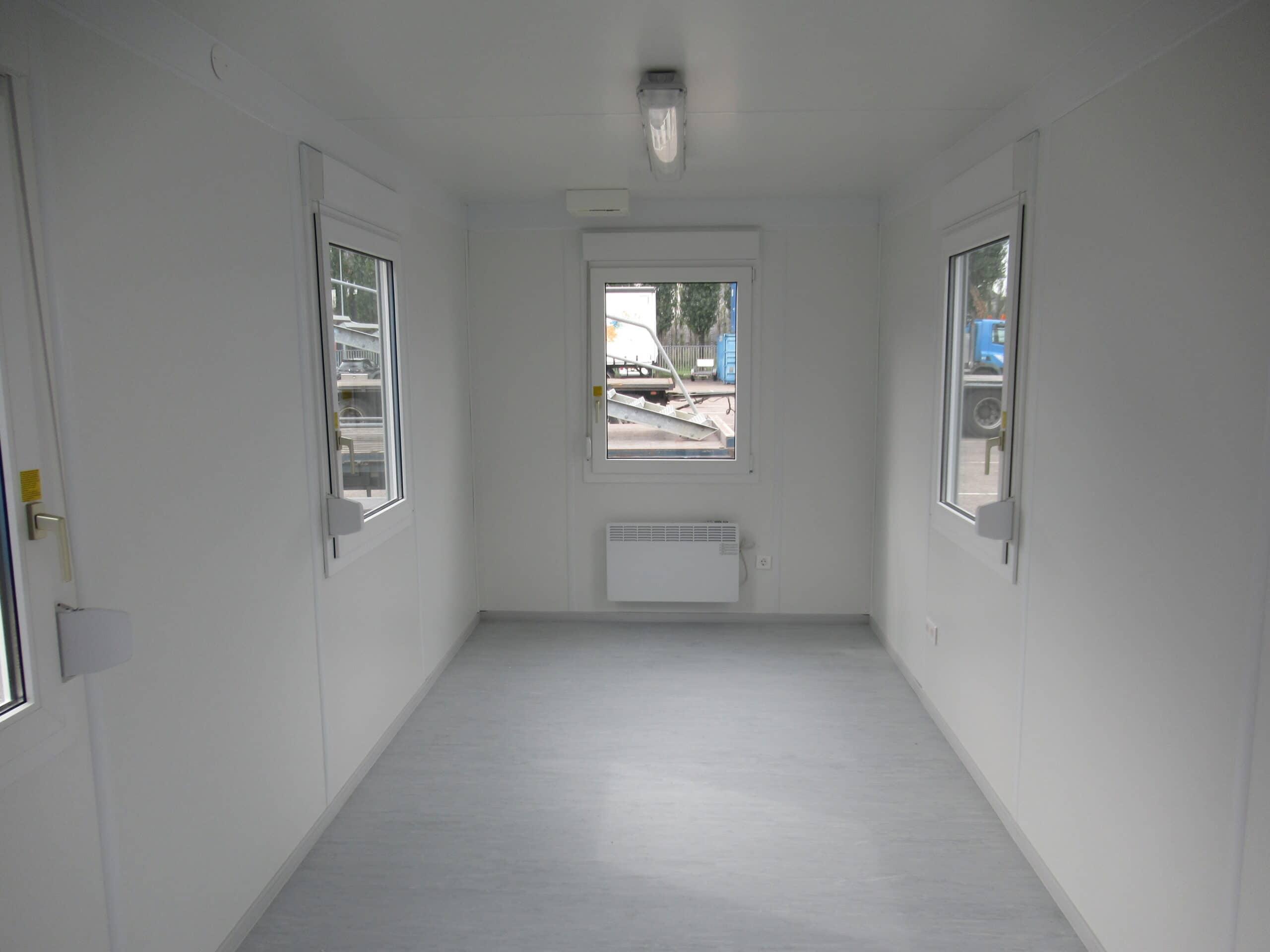 20ft accommodatie container met ramen