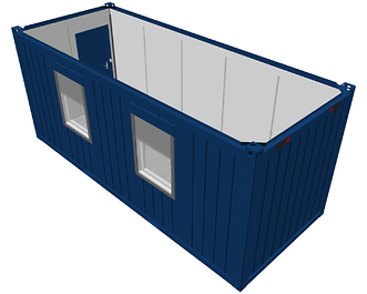 20ft accommodatie container