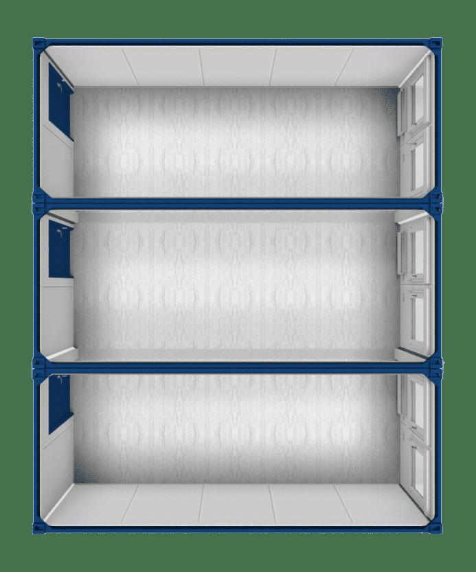 20ft Accommodatie container - Drievoudig geschakeld